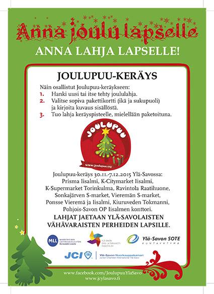 Joulupuu Ylä-Savo 2015 -juliste.